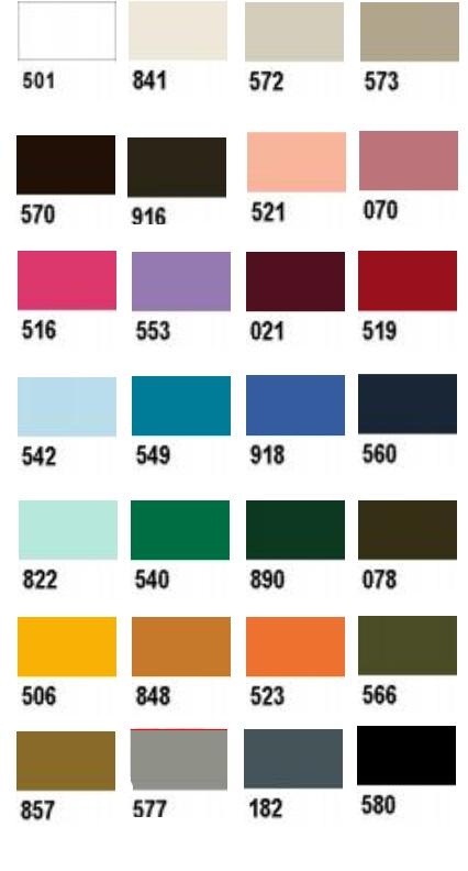 carte de coloris fil coton