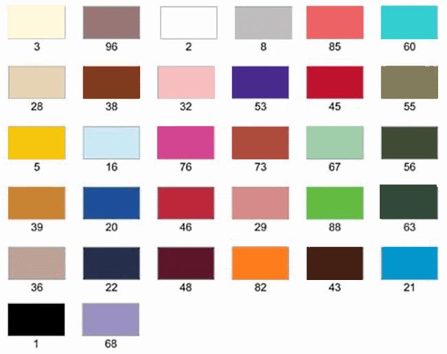 Ruban polyester large carte de coloris